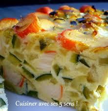 cuisiner courgette flan de courgettes et de surimi cuisiner avec ses 5 sens