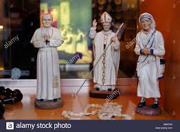 rosary shop religious statuettes and rosary in the gift shop at