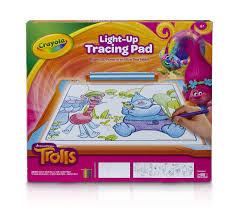 amazon com crayola trolls light up tracing pad art tool bright