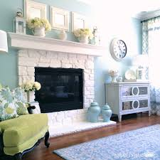 painted stone fireplace choice image home fixtures decoration ideas