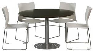 table ronde de bureau table ronde diamètre 120 cm plateau colori wengé piétement