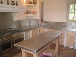 plan de travail cuisine en zinc cuisine zinc bac inox nettoyage apothyzinc le zinc de la