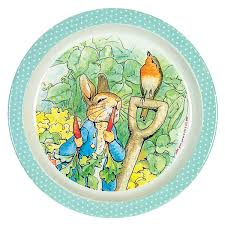 beatrix potter peter rabbit plate green national trust