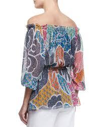 diane von furstenberg camila flower power dream silk blouse lyst