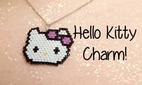 beaded charm necklace images Diy hello kitty seed bead brick stitch charm how to the corner jpg