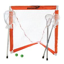 mini lacrosse set 3 sticks 2 balls u0026 1 goal