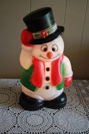 Blow Mold Christmas Yard Decorations Blow Mold Christmas Man U0026 Woman Child Carolers 35 38