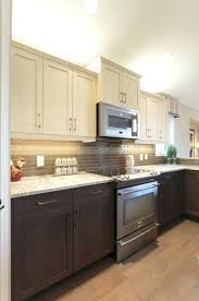 fascinating two tone kitchen cabinet modern two tone kitchen two