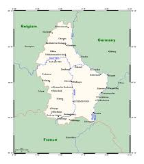 Luxembourg Map Detailed Map Of Luxembourg With Major Cities Luxembourg Europe