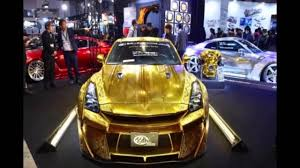 golden ferrari with diamonds nissan gt r luxury gold and diamond studded youtube