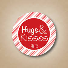 labels for party favors hugs kisses personalized favor stickers custom