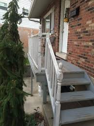 rebuilding new composite deck stairs and extending the concrete