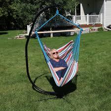 sunnydaze jumbo hanging hammock swing outdoor furniture