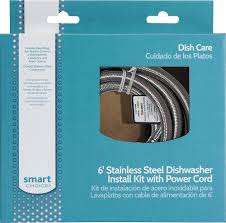 smart choice 6 u0027 deluxe dishwasher install kit multi 5304504505