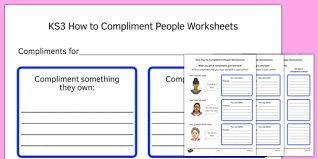 ks3 how to compliment people worksheets ks3 how compliment