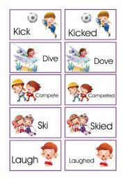 memory game verbs in present and past iii
