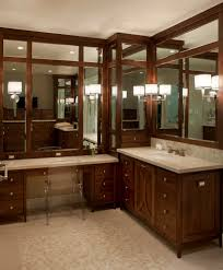 Vanity Mirror Bathroom by Corner Vanity Mirror Bathroom Traditional With Bath Bathroom