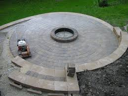 Circular Patio Kit by How Large Of A Patio Firepit Area Lawnsite