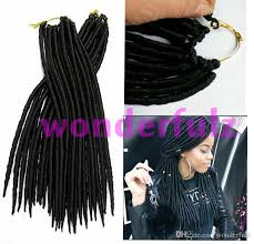 faux dreads with marley hair african american dreadlock extensions crochet braid hair synthetic