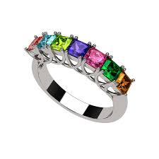 birthstone rings rings mothers rings nana asscher cut lucita style 1 to 7
