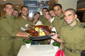 lone soldiers from america attend thanksgiving dinner in tel