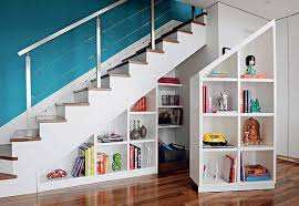 Diy Modern Bookcase Stair Step Bookcase Bookcase Inside Library Stairs Diy Stair Step