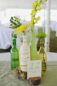 wine bottle wedding centerpieces simplify the chaos
