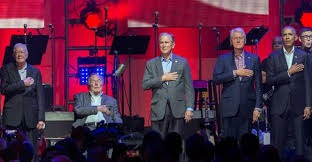 first five presidents five former us presidents appear together for hurricane relief