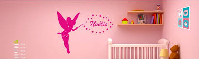 stickers pr駭om porte chambre sticker mural enfant fée prénom à partir de 6 10