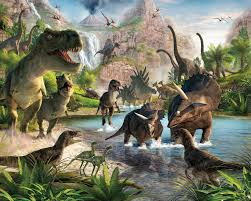 brewster wallpaper dinosaur land wall mural interiordecorating com mouseover