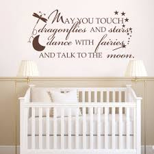 Girl Nursery Wall Decals by May You Touch Dragonflies U0026 Stars Dance With Fairies And Talk To