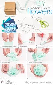 paper napkin flower tutorial diy paper napkin flowers smarty had a party blog