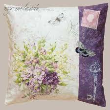 flieder balkon kissenhülle mit textildruck flieder lila blumen mit schmetterling