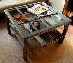 Diy Coffee Tables by Old Window U0026 Pallet Coffee Table We U0027d Probably Put A Thick Piece