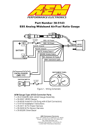 aem analog e85 wideband uego gauge e85 afr 305143 user manual