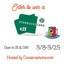 starbuck gift card deal enter to win the 25 starbucks gift card giveaway ends 3 25