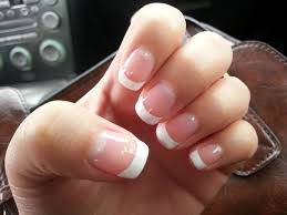 how to do a french manicure at home without guide strips