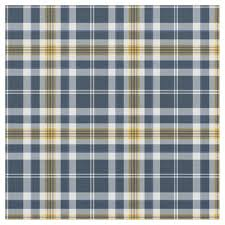 navy blue and yellow gold sporty plaid fabric zazzle