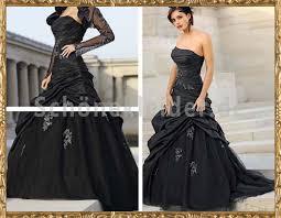 brautkleid in schwarz edles gerafftes a linie brautkleid schwarz