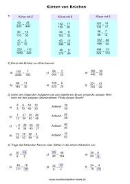 mathe brüche klasse 6 brüche bruchrechnen mathe 6 klasse