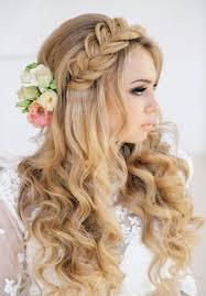 simple bridal hairstyle penteado de noiva com trança e flores hair pinterest beach