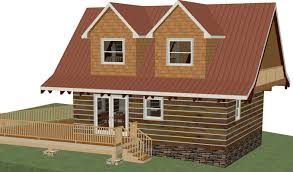 Log Cabin With Loft Floor Plans by Log Cottage Floor Plan 24 U0027x28 U0027 672 Square Feet