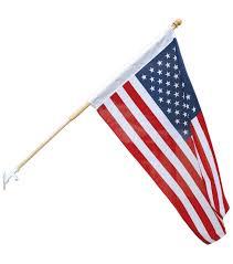 Americana Flags Americana Patriotic 30 U0027 U0027x48 U0027 U0027 U S Flag Set With Wood Pole Joann