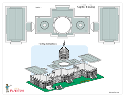 Capitol Building Floor Plan Paper Toys Paper Cut Out Models Free At Papertoys Com