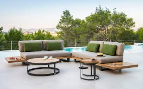Teak Outdoor Furniture Atlanta by The Truro Modern Sectional Combines Teak Aluminum And