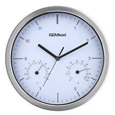 Outdoor Pedestal Clock Thermometer Outdoor Clock Thermometer Ebay