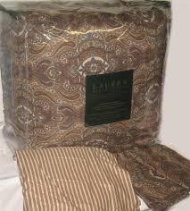 Ralph Lauren Comforter King Ralph Lauren Colchester Cinnamon Paisley King Or Queen Comforter