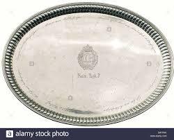 engraved platter a large silver platter general freiherr falkenhausen oval