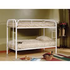White Bunk Bed Frame Bedroom Furniture Solid Wood Bunk Beds Mattress Bed Frame Bunk