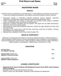 Nurse Practitioner Resume Template Examples Of Registered Nurse Resumes Registered Nurse Resume